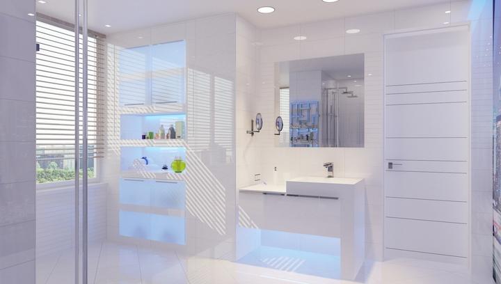 Выбирайте для ванной комнаты не пористую плитку с хорошей кислотной устойчивостью